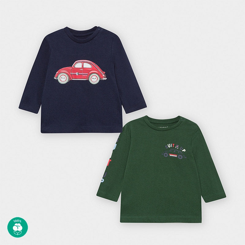 Blue & Green 2 T-shirt Set Cars