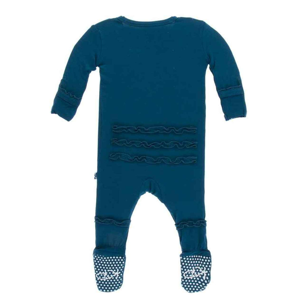 Kickee Pants-Footie with Zipper-Peacock 18-24 months
