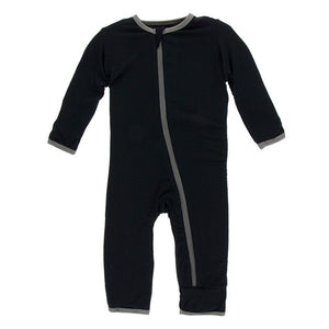 Kickee Pants Coverall w Zipper - Topiary with Aloe