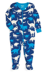 Hatley- Silhouette Dinos Footed Coverall Blue