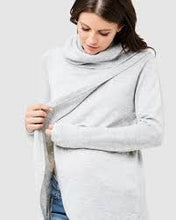 Load image into Gallery viewer, Ripe- Cowl Neck Nursing Knit- Silver Marle
