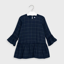 Load image into Gallery viewer, Mayoral- Navy Plaid Dress (4973)