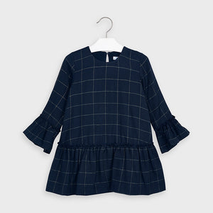 Mayoral- Navy Plaid Dress (4973)