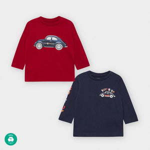 Red & Blue T-Shirt Set Cars