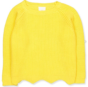 The New- Olly Knit Sweater- Yellow