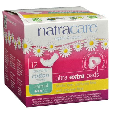 Natracare- Orgnic Cotton Ultra Extra Pads, Long- 8 count