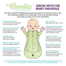 Load image into Gallery viewer, Woombie- Grow With Me Swaddle (0-18 M)