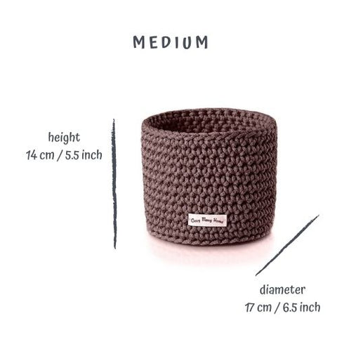Medium BASKET / Dark BROWN