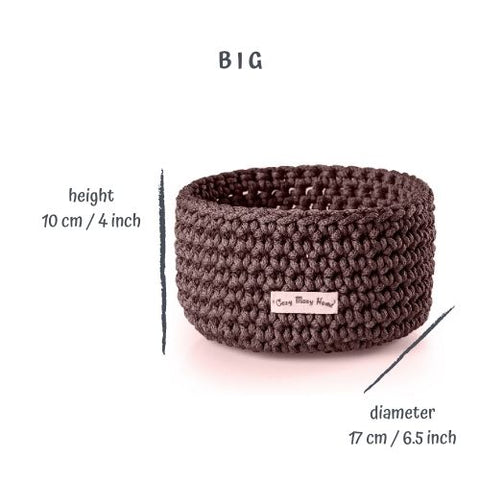 Big Round BASKET / Dark BROWN