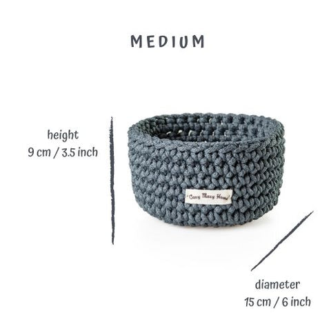 Medium Round BASKET / Dark GRAY