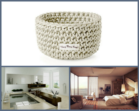 Medium Round BASKET / BEIGE