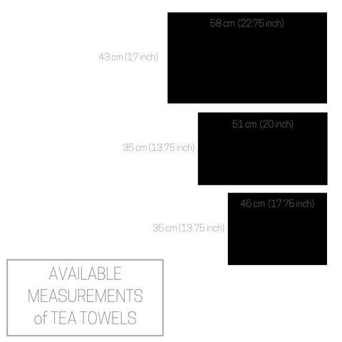 Gray striped pure linen tea towel