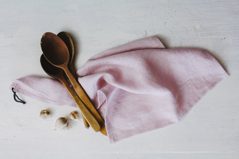 Farmhouse kitchen linen dish towel