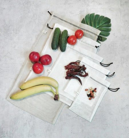 Big Reusable Bag For Fruits and Vegetables, Zero Waste Shopping Bags, Storage Bags