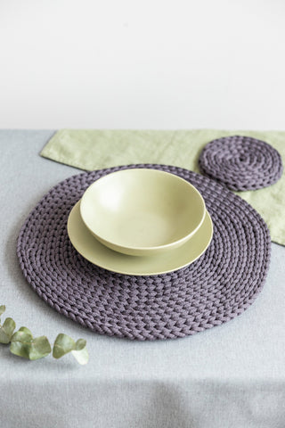 Round crochet table coasters, Round cup coasters