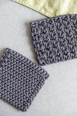 Crochet table coasters to protect the table from heat, Table decoration,