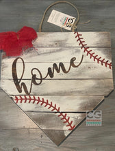 Load image into Gallery viewer, Home Plate - Red Bow & Red Stitching