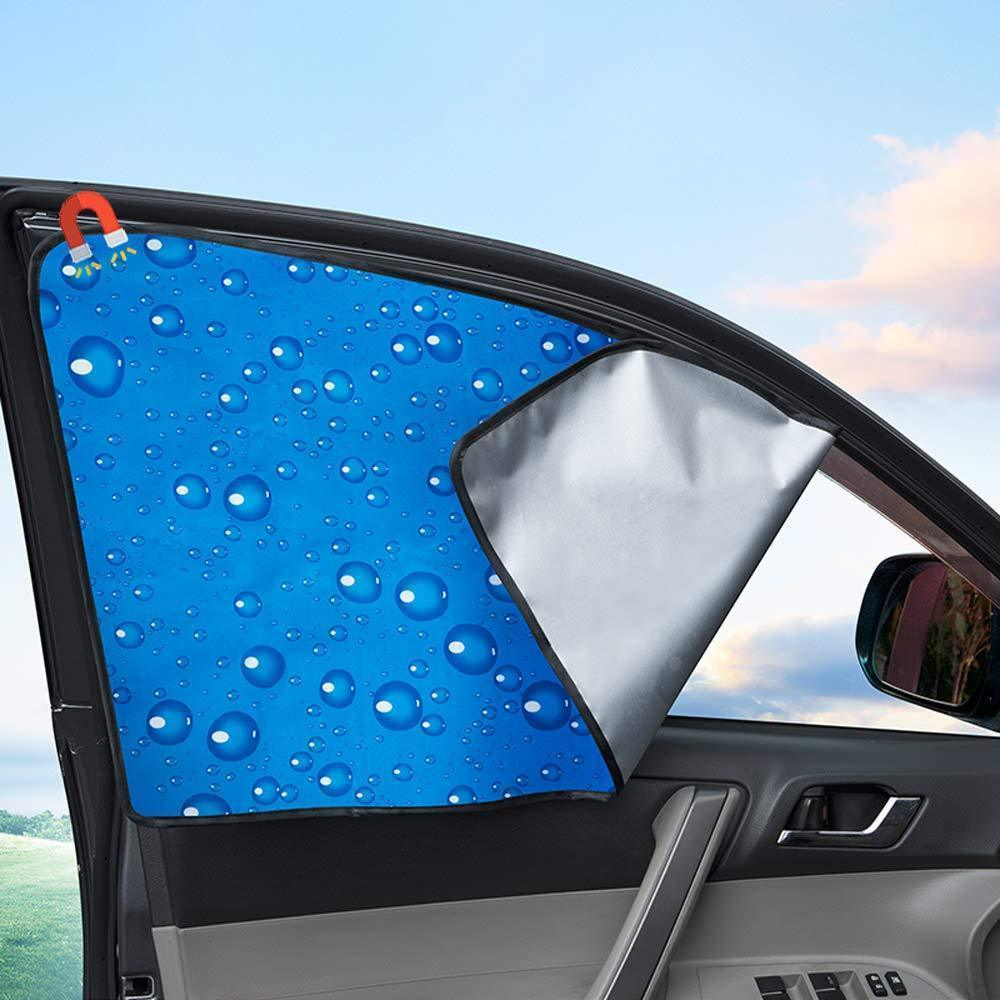 Car Side Window Universal Magnetic Sunshade Curtains (2PCS)