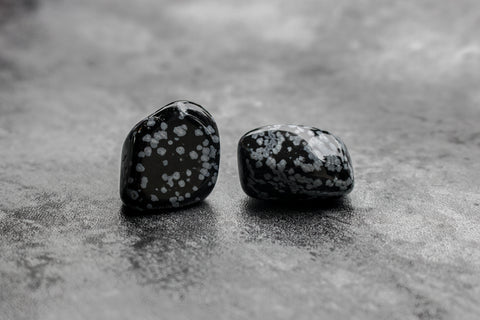Crystal Library - Snowflake Obsidian