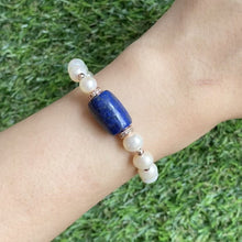 Load and play video in Gallery viewer, Bedazzled Lapis Lazuli Bracelet