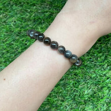 Load and play video in Gallery viewer, Golden Black Sunstone 7.5mm Bracelet