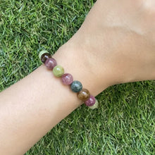Load and play video in Gallery viewer, Multi-Colour Tourmaline Bracelet
