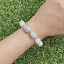 Load and play video in Gallery viewer, Aquamarine Asymmetric Bracelet