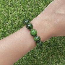 Load and play video in Gallery viewer, Dioptase 12mm Bracelet