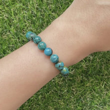 Load and play video in Gallery viewer, Chrysocolla 8mm Bracelet