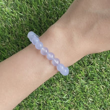 Load and play video in Gallery viewer, Blue Chalcedony 8mm Bracelet
