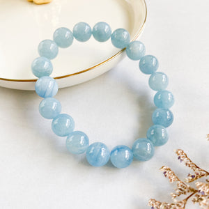 Aquamarine 10mm Bracelet