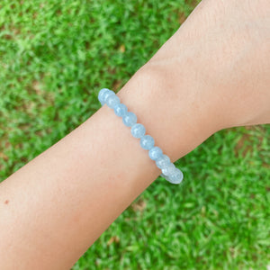 Aquamarine 6mm Bracelet