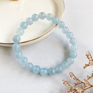Aquamarine 8mm Bracelet