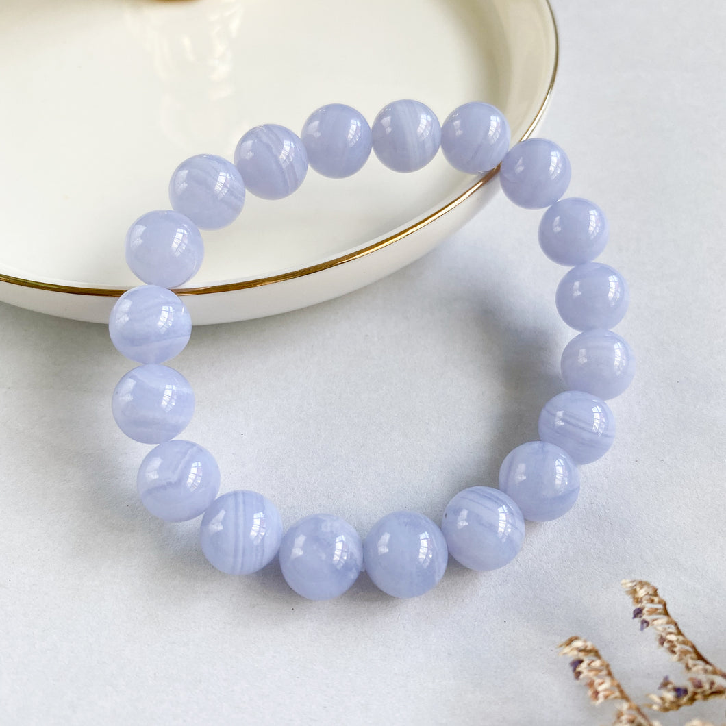 Blue Lace Agate 10mm Bracelet
