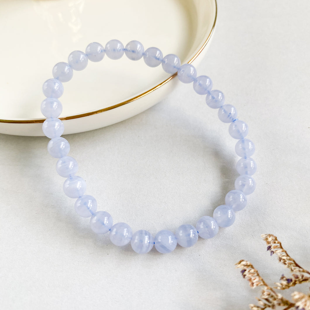 Blue Lace Agate 6mm Bracelet