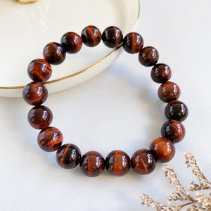 Red Tiger's Eye 10mm Bracelet