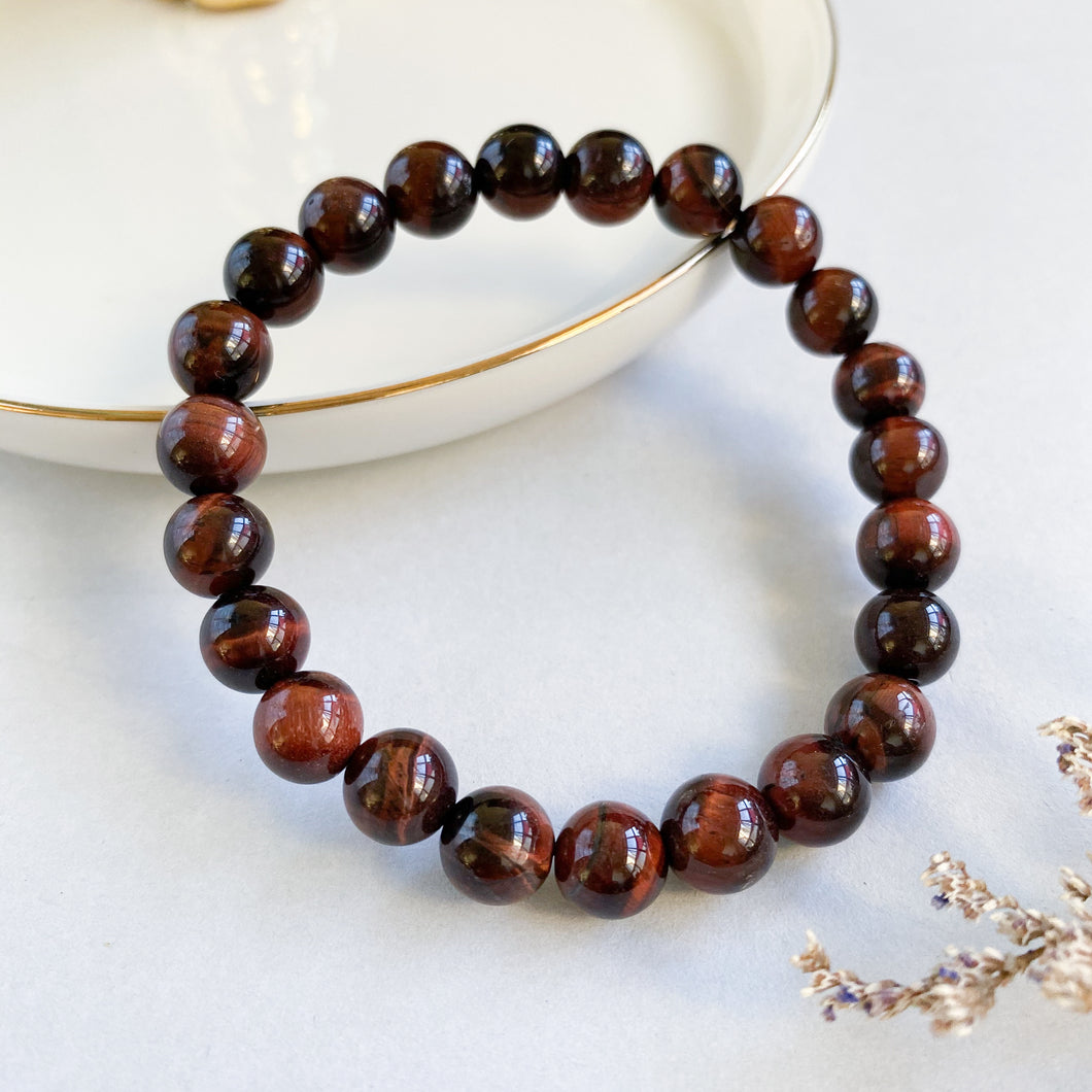 Red Tiger's Eye 8mm Bracelet