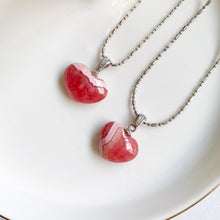 Load image into Gallery viewer, Rhodochrosite Heart Pendant - Small