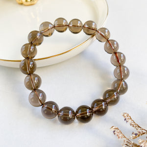 Smoky Quartz 10mm Bracelet