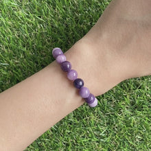 Load and play video in Gallery viewer, Purple Russian Fluorite 8mm Bracelet