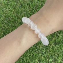 Load and play video in Gallery viewer, Selenite 8mm Bracelet