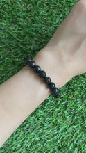 Load and play video in Gallery viewer, Grade A Black Jade 8mm Bracelet