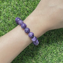 Load and play video in Gallery viewer, Charoite 10mm Bracelet