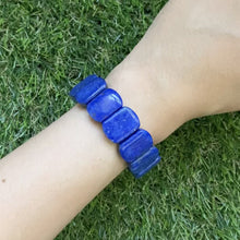 Load and play video in Gallery viewer, Lapis Lazuli Rectangular Bracelet