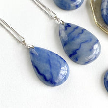 Load and play video in Gallery viewer, Blue Aventurine Pear Pendant