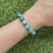 Load and play video in Gallery viewer, Chrysocolla 10mm Bracelet