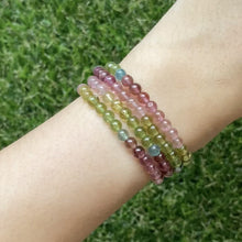 Load and play video in Gallery viewer, Rainbow Tourmaline Wrap Bracelet