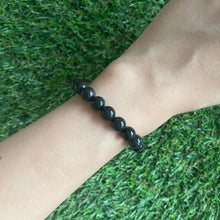 Load image into Gallery viewer, Grade A Black Jade 8mm Bracelet