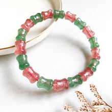Load image into Gallery viewer, [Special Price!] Duo Strawberry Quartz Bracelet