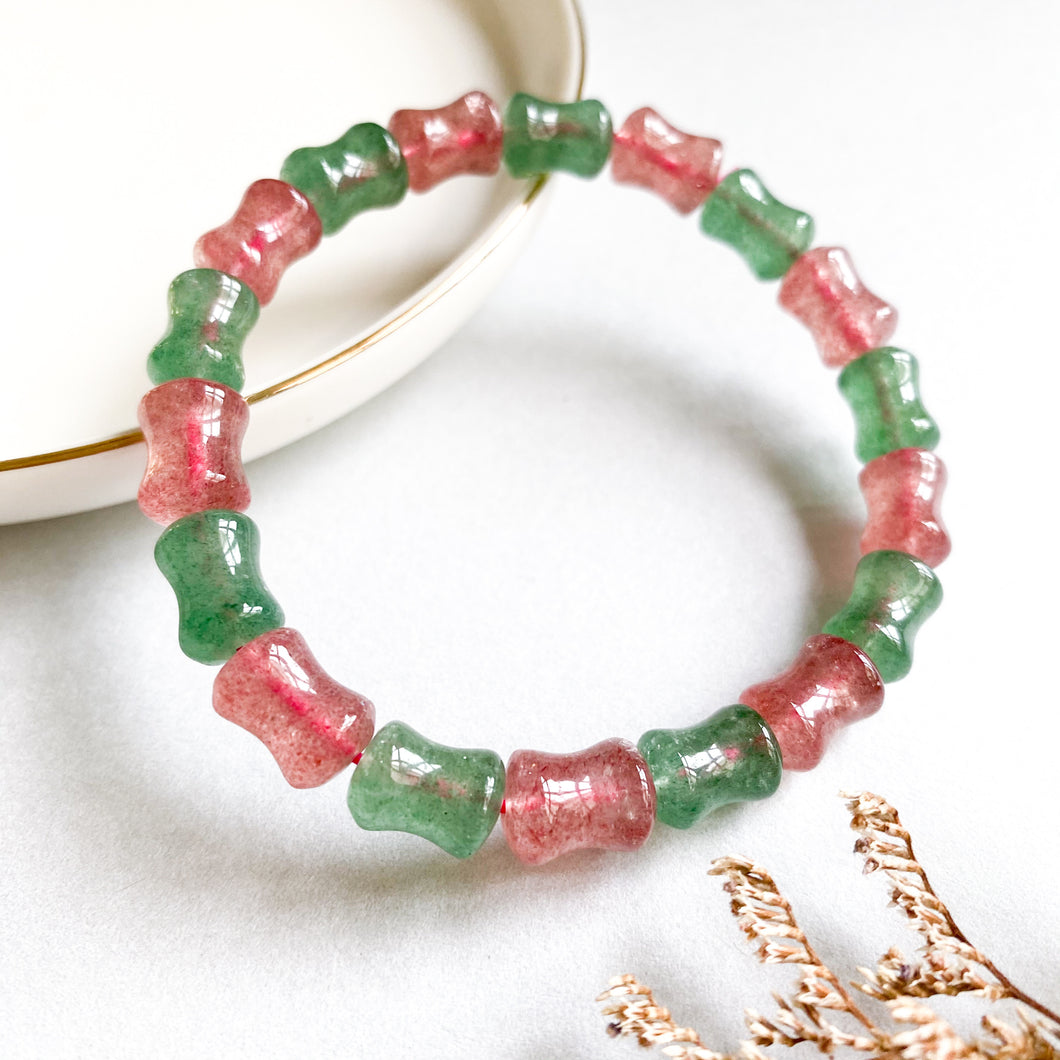 [Special Price!] Duo Strawberry Quartz Bracelet